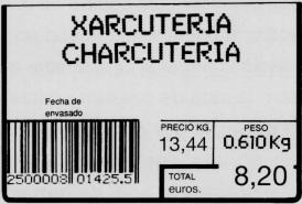 Codi de barres: uns nombres són codificats amb barres negres i blanques llegibles òpticament